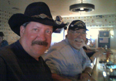 Having a beer with Bagger at the American Legion Post 60, Laughlin, NV