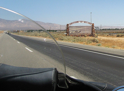 Entering the town of Mojave