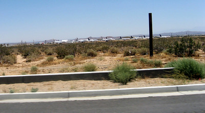 Mothballed airliners at Mojave Airport
