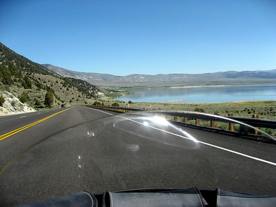 HWY 395. Coming up on Mono Lake.
