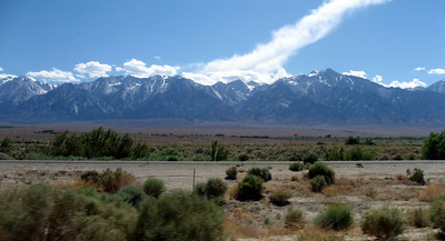The Sierras look beautiful from HWY 395!