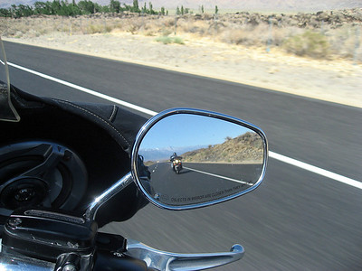 HWY 395. Slow Dave in my mirror.