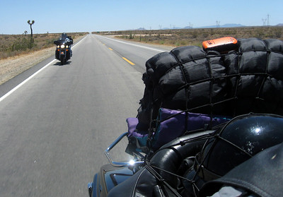 Riding through the Mojave Desert