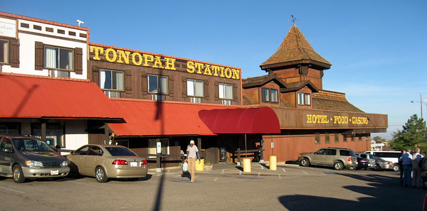 This was where we spent the night in Tonopah. We had prime rib for dinner. My friend Shawn Hall lives in Tonopah and hooked up with us for dinner.