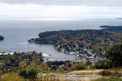 View of Camden, Maine from Mount Battie