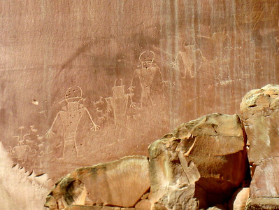 Ancient alien astronaut petroglyphs.  How the heck do you explain this?