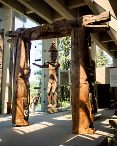 At the Museum of Anthropology at UBC, specializing in Salish artifact, including a bunch of poles.
