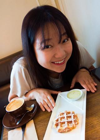 Famous waffle at Medina Cafe.