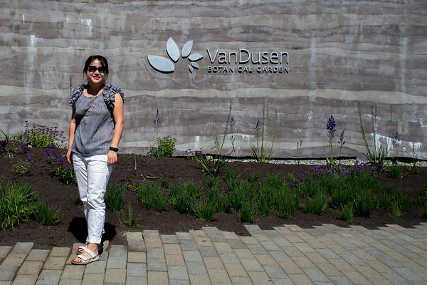 The Van Dusen Botanical Garden.