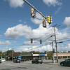 The City of Leominster has proposed a project that consists of safety, mobility and access improvements for all users along Route 12 (North Main Street) from the intersection with Washington Street to the intersection of Lindell Avenue/Hamilton Street. The improvements include new sidewalks, new traffic signal equipment, roadway widening, pavement reconstruction, drainage, the addition of dedicated turn lanes and geometric improvements at all intersections. There will also be a bike lane added. Additionally, a shirt section of the Twin City Rail Trail will be constructed as part of the project. A view of the traffic lights in front of McDonalds on North Main Street. SENTINEL & ENTERPRISE/JOHN LOVE