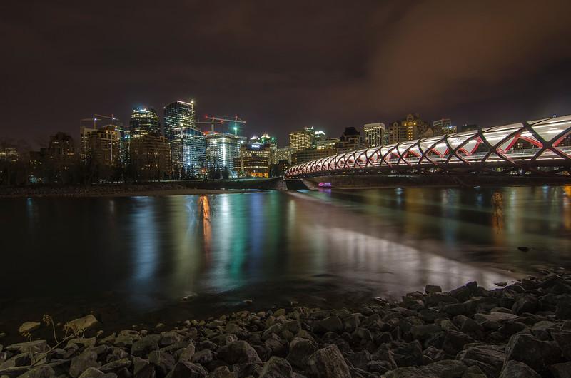 Peace Bridge, Calgary -left