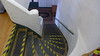 Stairway in the Upper Commander's Suite, Hearst Hacienda, April 2016.