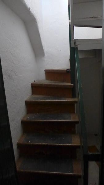 Secret stairway, Hearst Hacienda, April 2016.