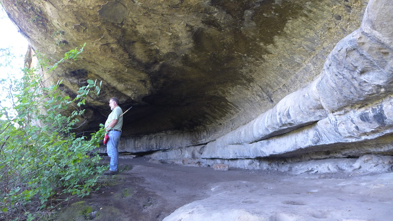 Wagon Cave shows evidence of habitation from prehistoric times to the 19th centruy.