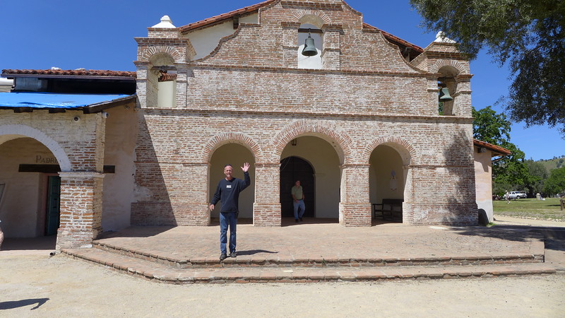 Ty at the Mission San Antonio, April 2016.