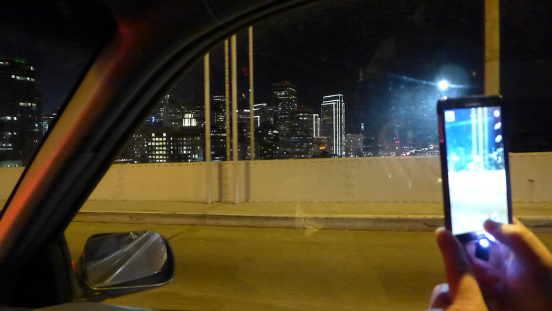 On the Bay Bridge.
