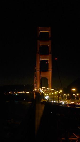 Golden Gate at night.