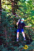 Pretending everything is cool hundreds of feet above the Redwood forest floor. Sonoma Canopy Tours, 2020.