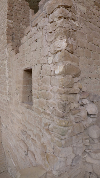 View showing how wall was constructed. , Mesa Verde National Park, 2013.