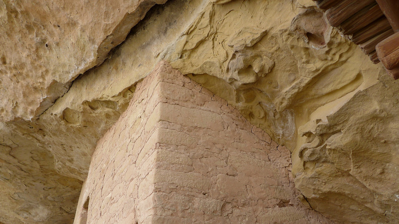 Walls were constructed to fit perfectly with existing rock.