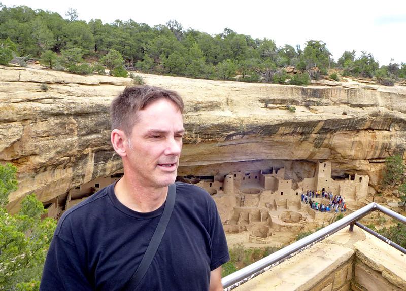 Greg at Cliff Palace Overlook , Mesa Verde National Park, 2013.