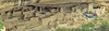 Panorama of Cliff Palace from overlook at beginning of tour. , Mesa Verde National Park, 2013.