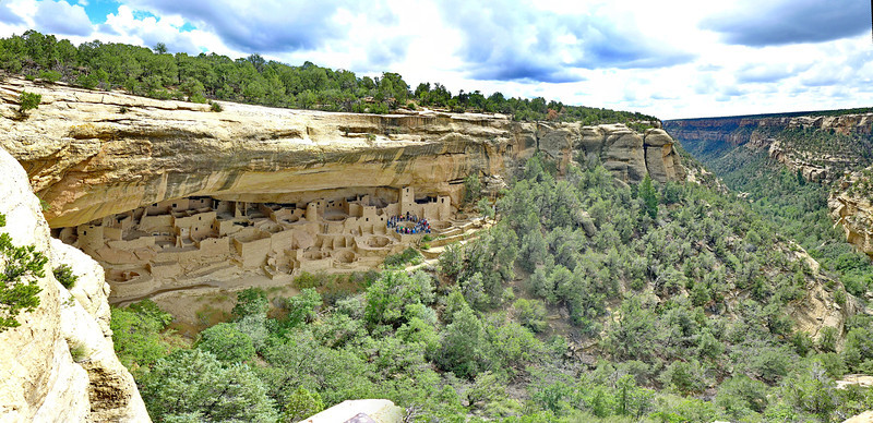 View of Cliff Palace , Mesa Verde National Park, 2013.