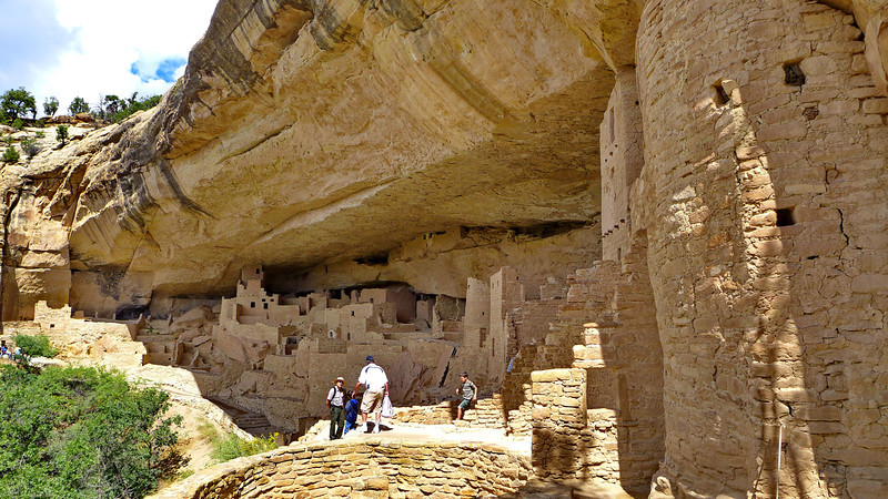 Leaving Cliff Palace , Mesa Verde National Park, 2013.