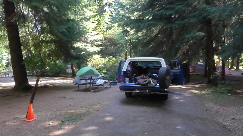 Campsite at Silver Falls State Park, Oregon, 2015.