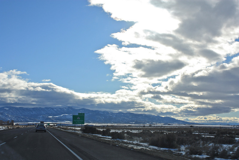 The drive from Mom's funeral in Salt Lake to Parowan, her hometown, where she was laid to rest next to Dad (and Grandma, Grandpa & Aunt Ivy)
