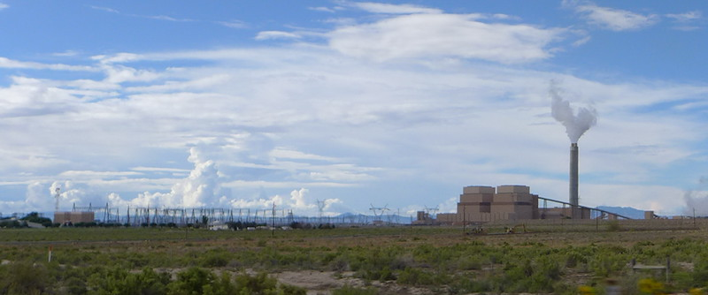 The Intermountain Power Plant at Delta, Utah, owned by the Los Angelos Department of Water and Power, 2013.