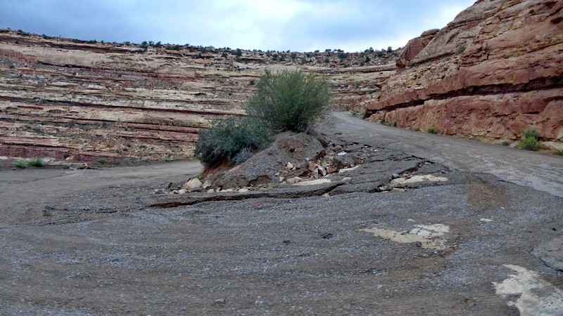 Switchback on our road.