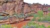 The rains made even the creeks red. Capital Reef National Monument, 2013.