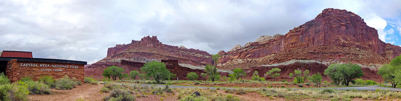 Panorama from the Visitor's Center, Capital Reef, 2013.
