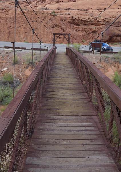 Suspension bridge at Hog Springs