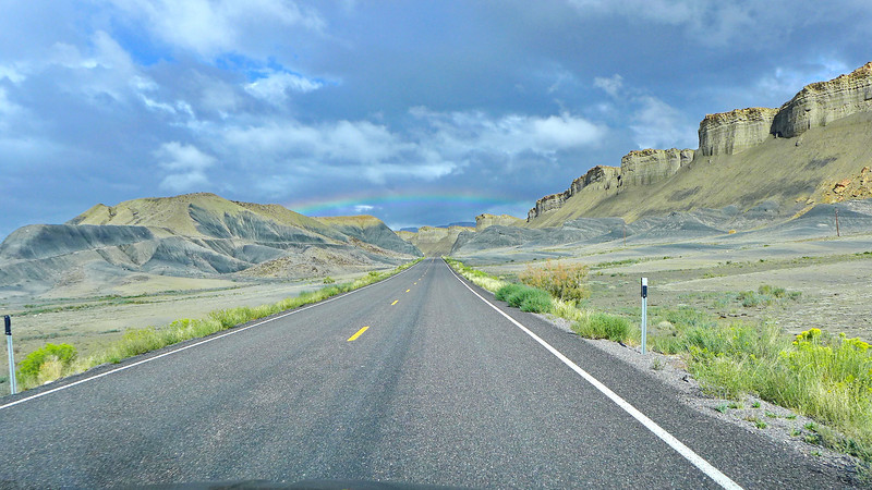 Spectacular landscapes, cheap gas, uncrowded smooth highways, and lots of rainbows!