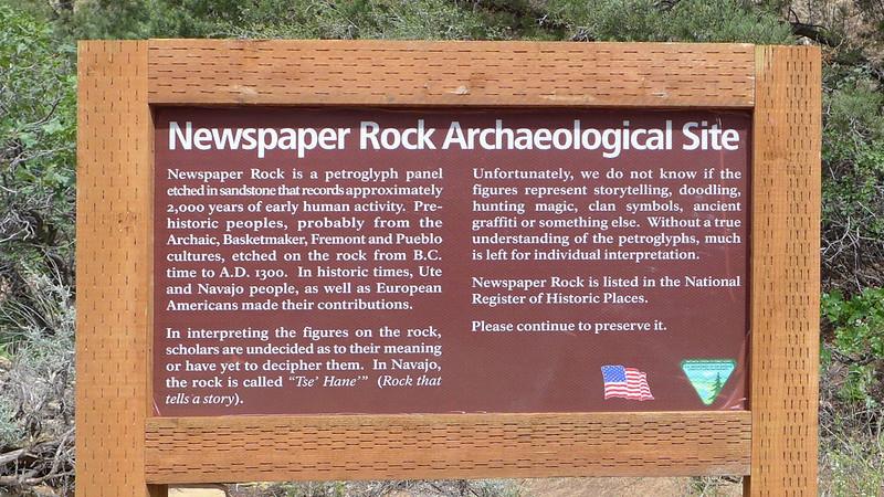 Newspaper Rock, Utah, 2013.