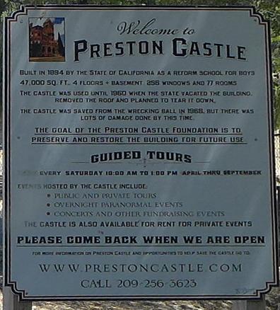 Preston Castle, 2015.