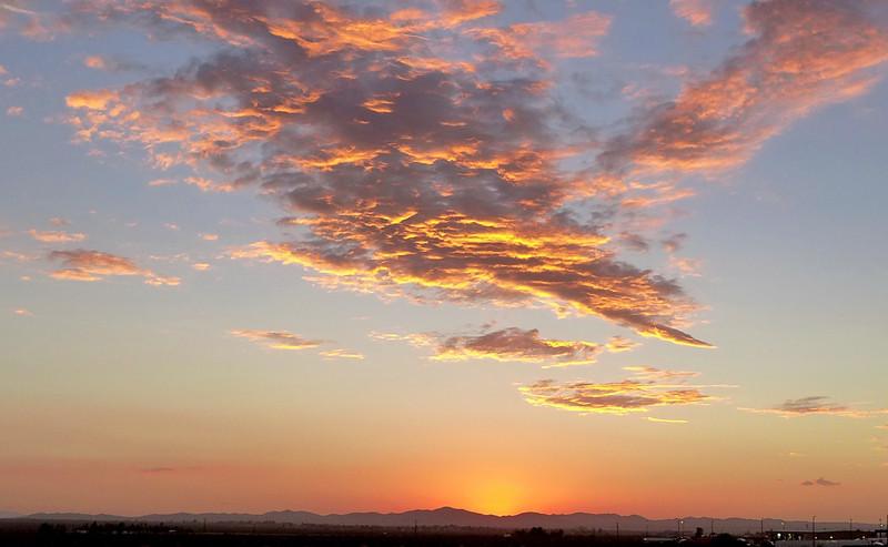 Sunrise Near Victorville, California