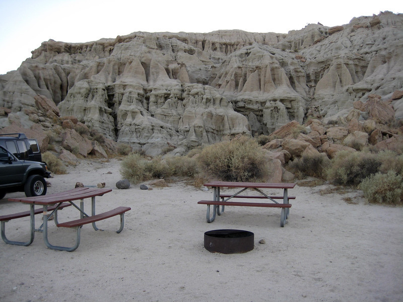 Campsite at Red Rock Canyon, CA
