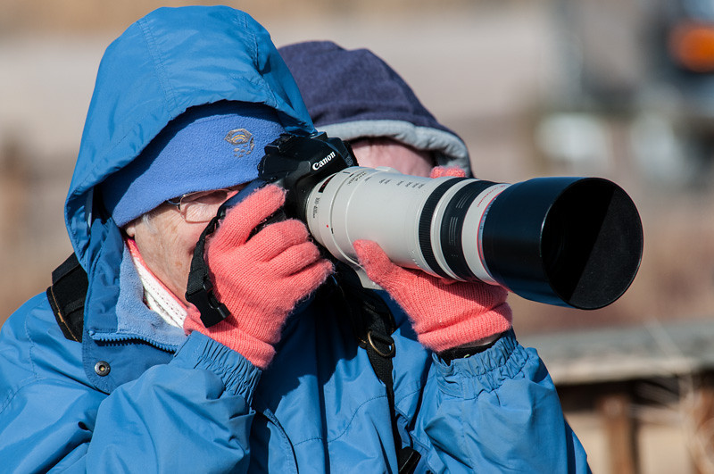 Mary Lou, got the shot!  Photo by Ernie Martin