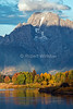 Oxbow Bend, Mount Moran, Snake River, Grand Teton National Park, Wyoming, USA, North America