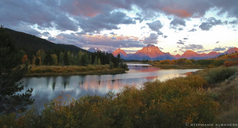 Mt. Moran Sunrise - photo by Stephanie Albanese