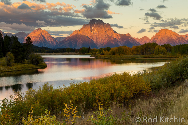 Oxbow bend in Grand Tetons by Rod Kitchin