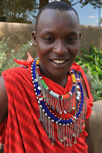 Masai man.  Photo by Leah Bensen
