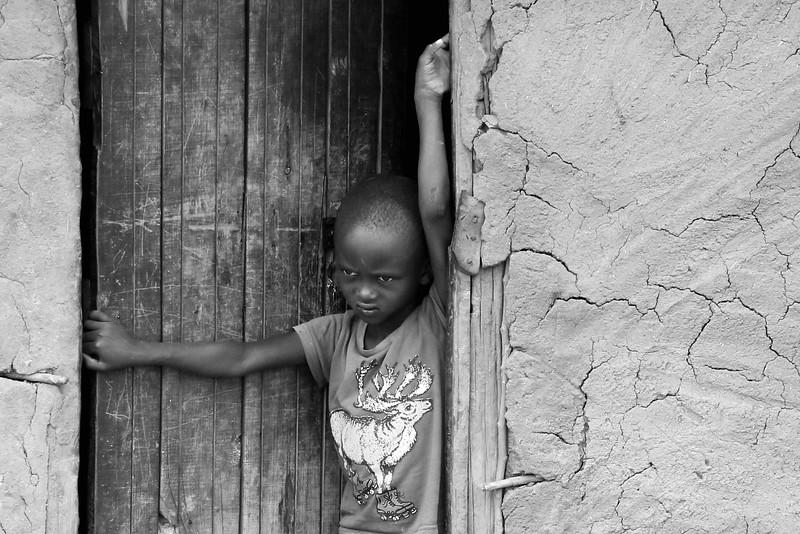 Child in a Masai village.  Photo by Leah Bensen