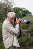 Gary photographing hippos