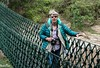 Maasai Mara.Stephanie on Suspended bridge-1