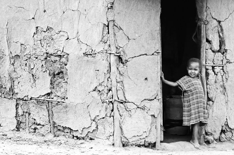 Child in Masai village.  Photo by Leah Bensen