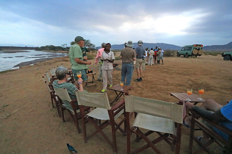 A surprise goodbye celebration by the river on the night before we left the Elephant's Bedroom camp in Samburu National Reserve.  Photo by Leah Bensen